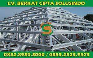 Distributor Besi Baja dan Baja Ringan Surabaya - Rangka Atap Baja Ringan Profil C dan Reng 01