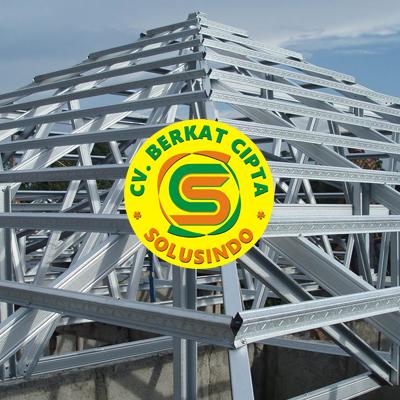 Distributor Besi Baja dan Baja Ringan Surabaya - Rangka Atap Baja Ringan Profil C dan Reng